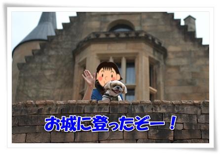お城に登ったぞー!
