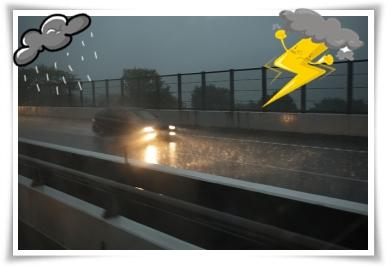 大雨&雷警報!