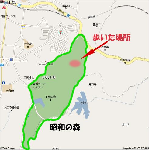 昭和の森マップ