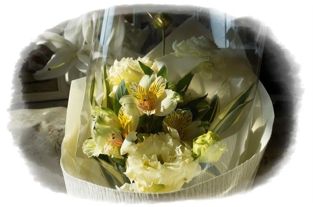 ドンさんとボンドくんからのお花