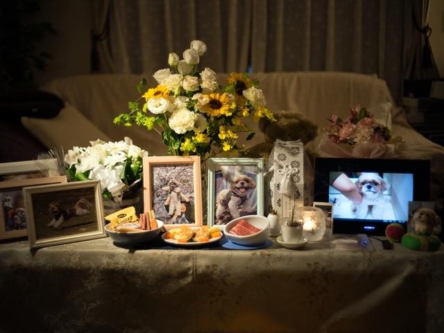 月命日「今日の祭壇」